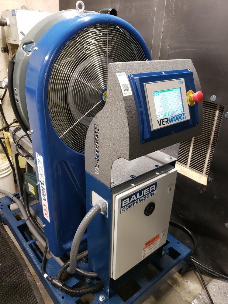 High pressure Bauer unit installed in a lab in Virginia