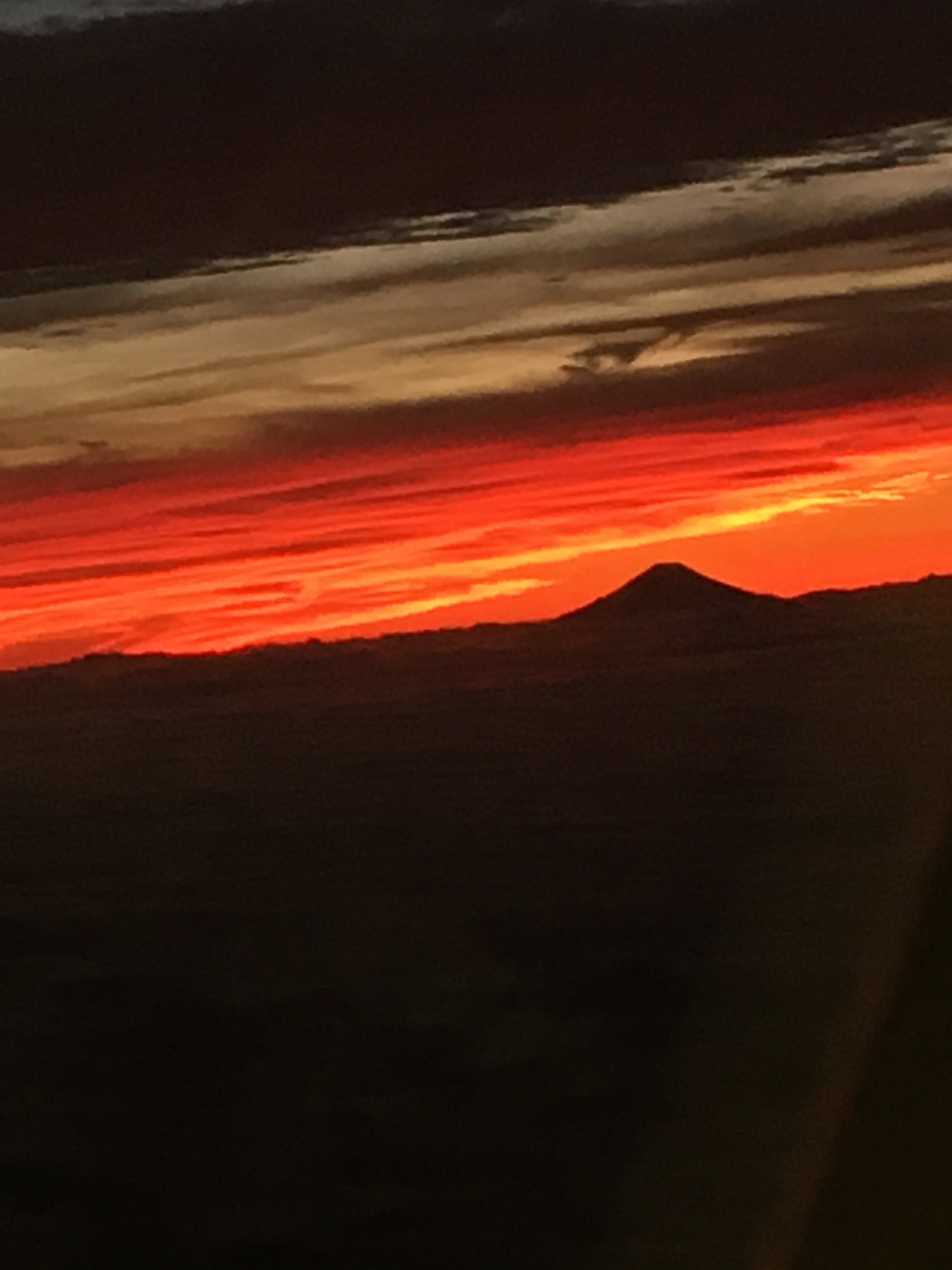 Mt. Fuji upon take-off