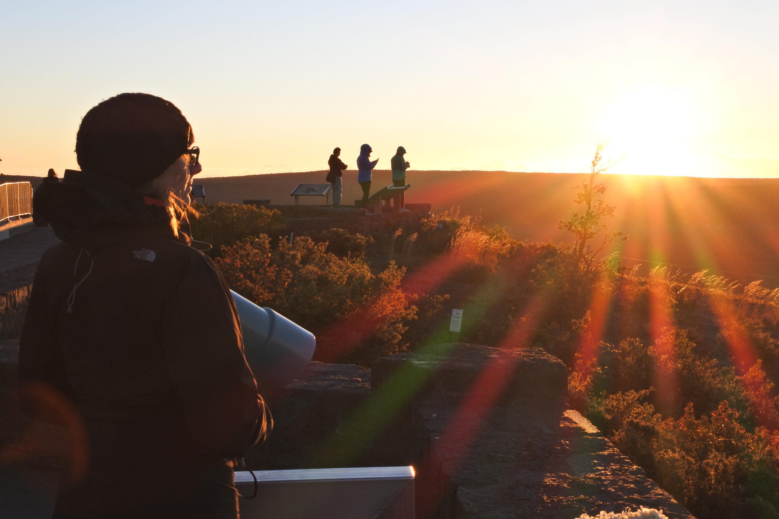Kilauea at sunrise with good friends
