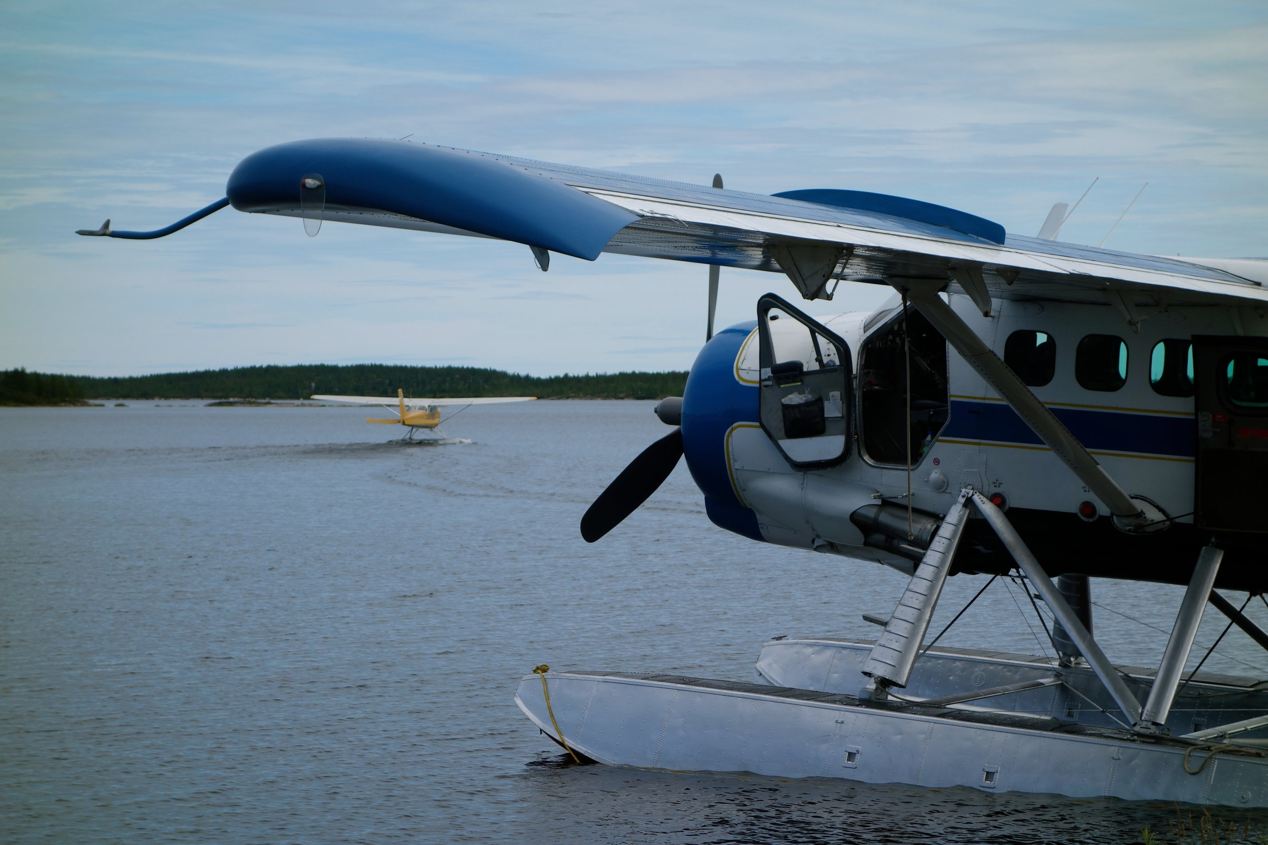 Float plane tag, northern Quebec, Canada