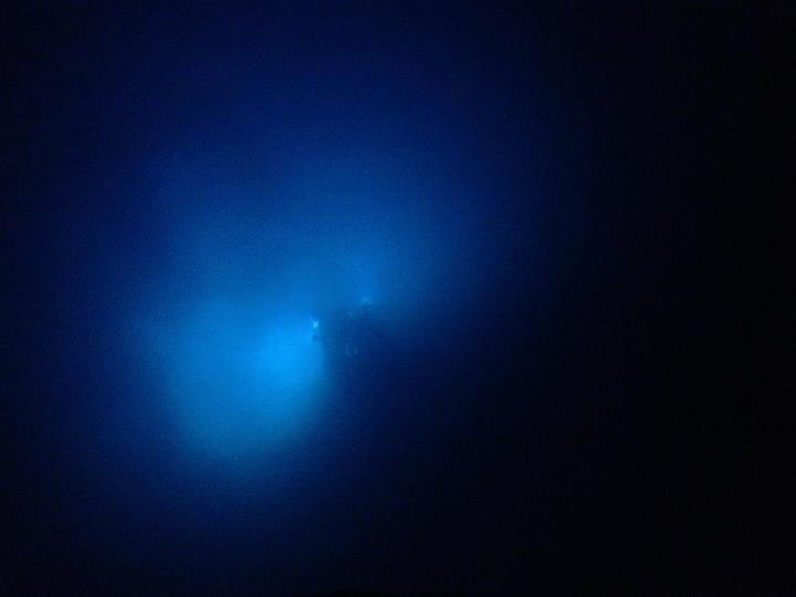 Ocean nightlight: Deepworker submersible descending