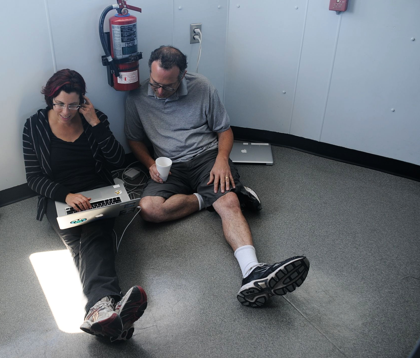 Development dedication on board the Liberty Star during a NEEMO mission.  Chairs are for the weak!
