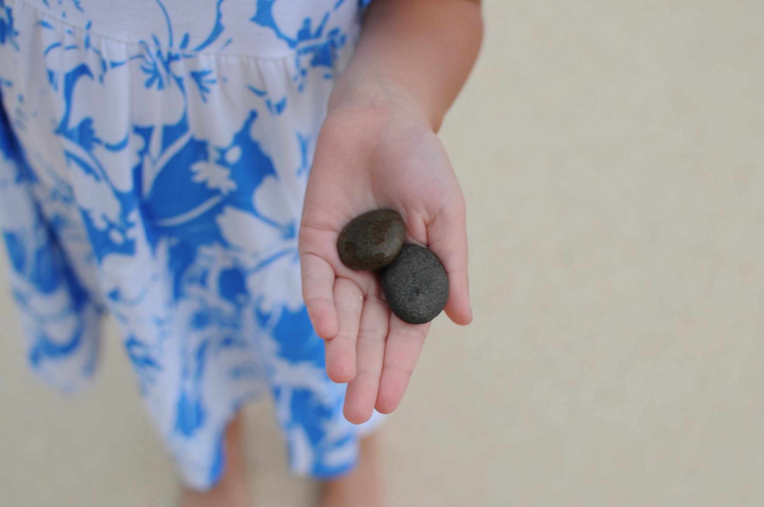 Little geologist exploring Rarotonga