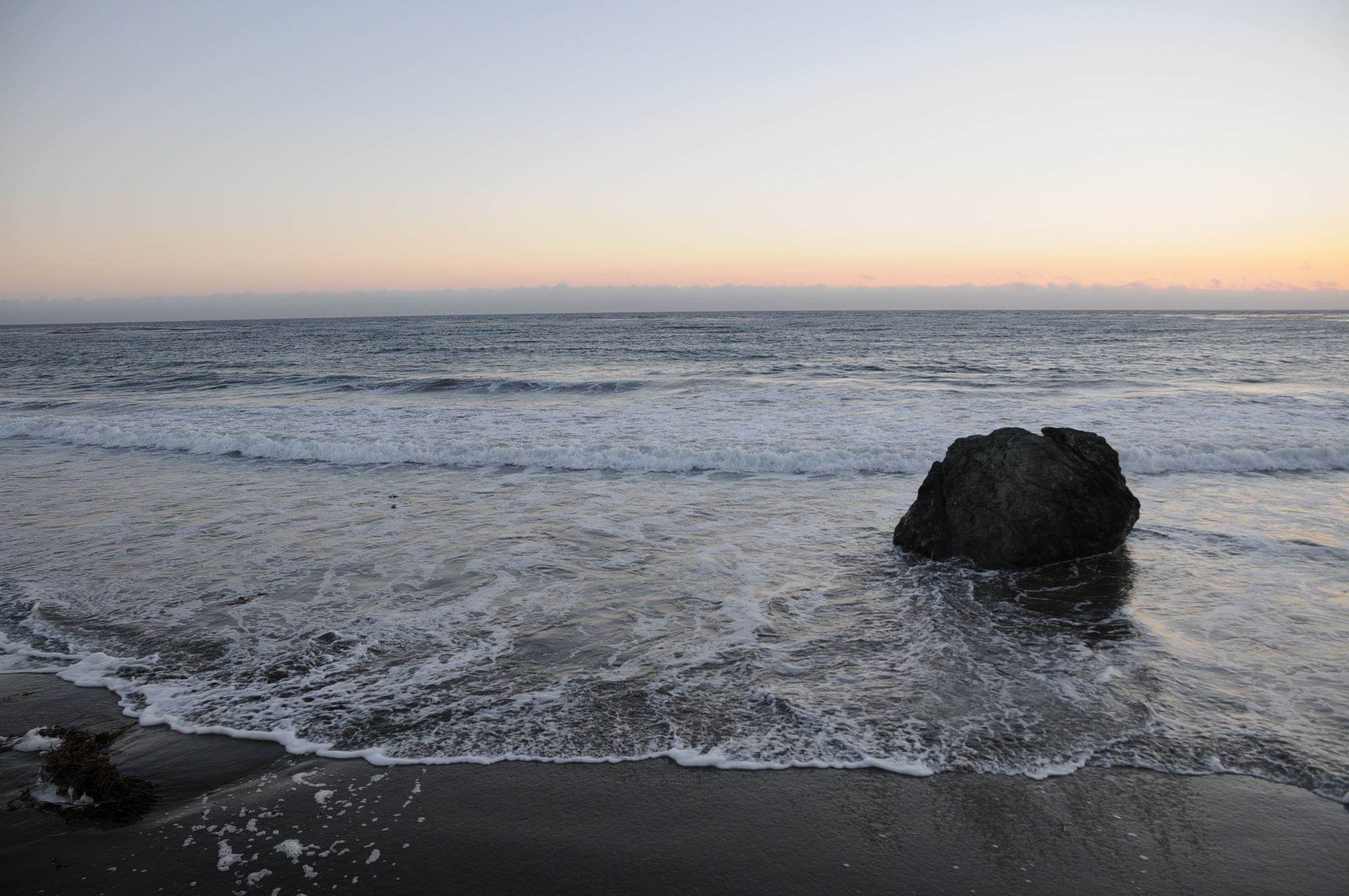 California coastline at the end of the day