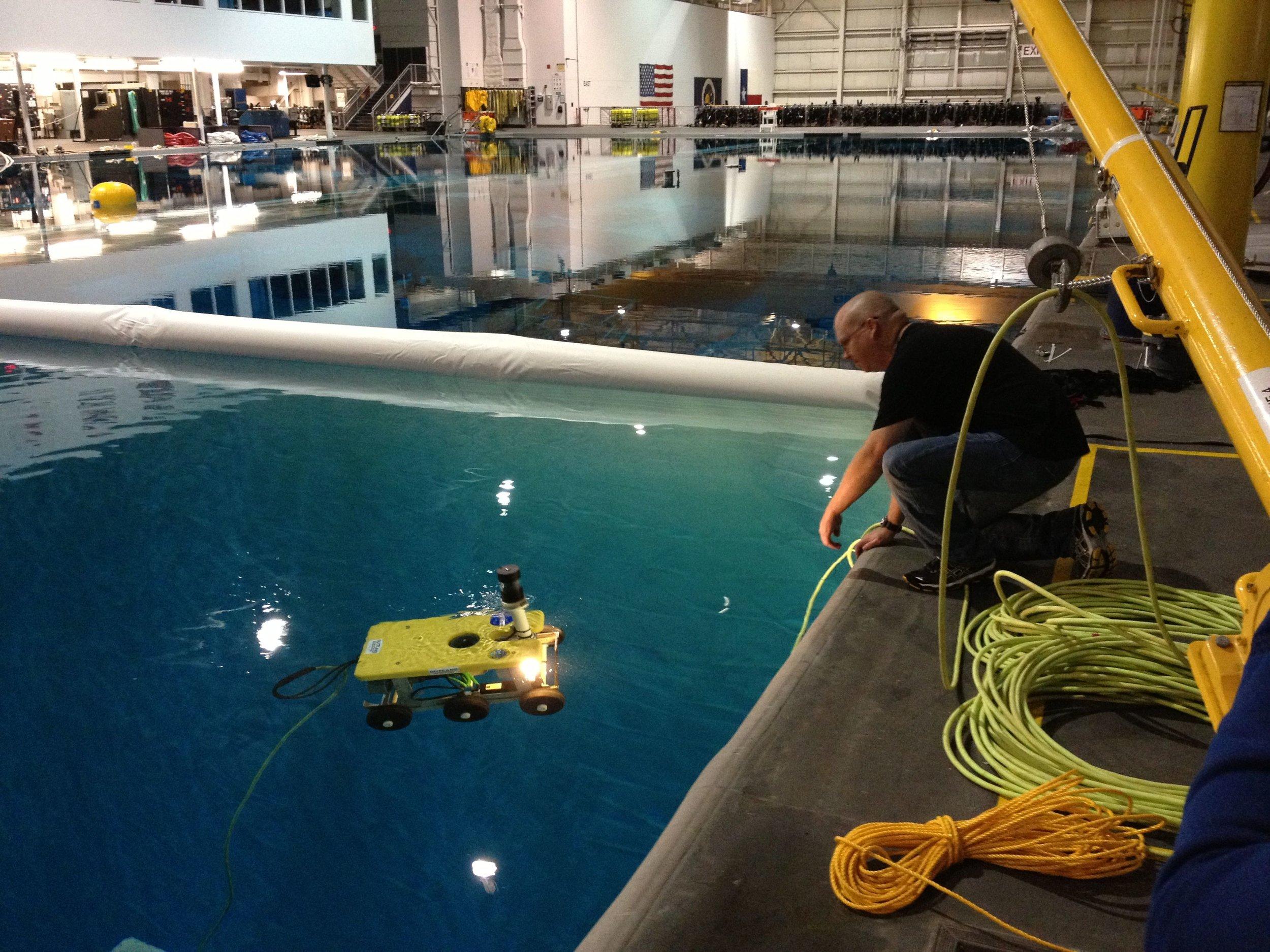 ROV tests @ NASA Neutral Buoyancy Lab