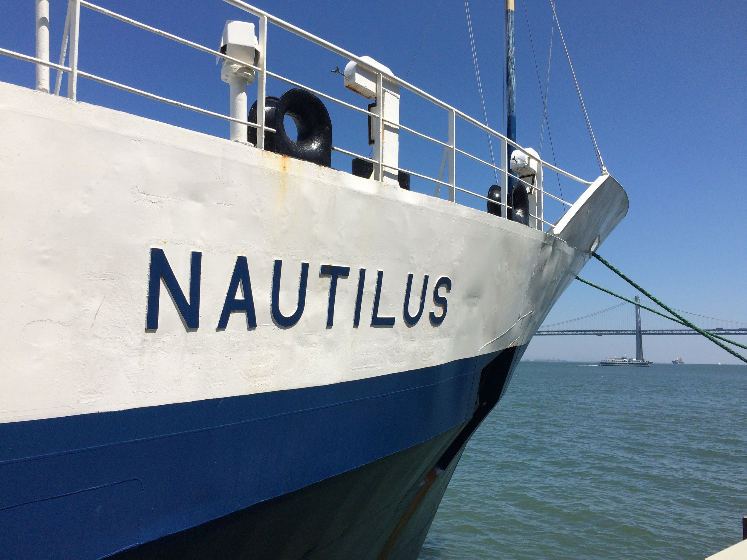 The lovely E/V Nautilus docked in San Francisco