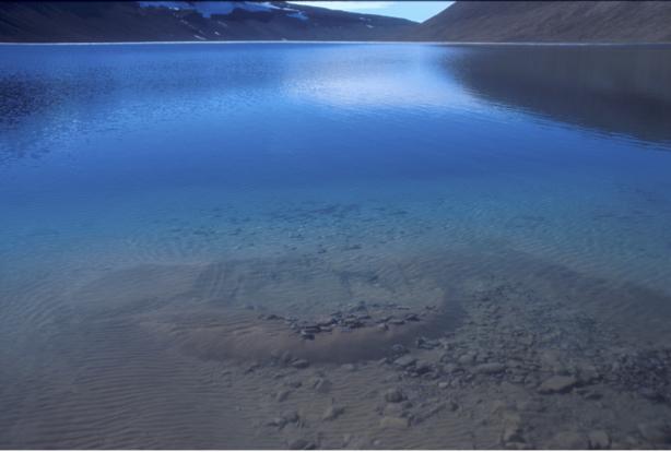 Brilliant Arctic lake - Devon Island, Nunavut