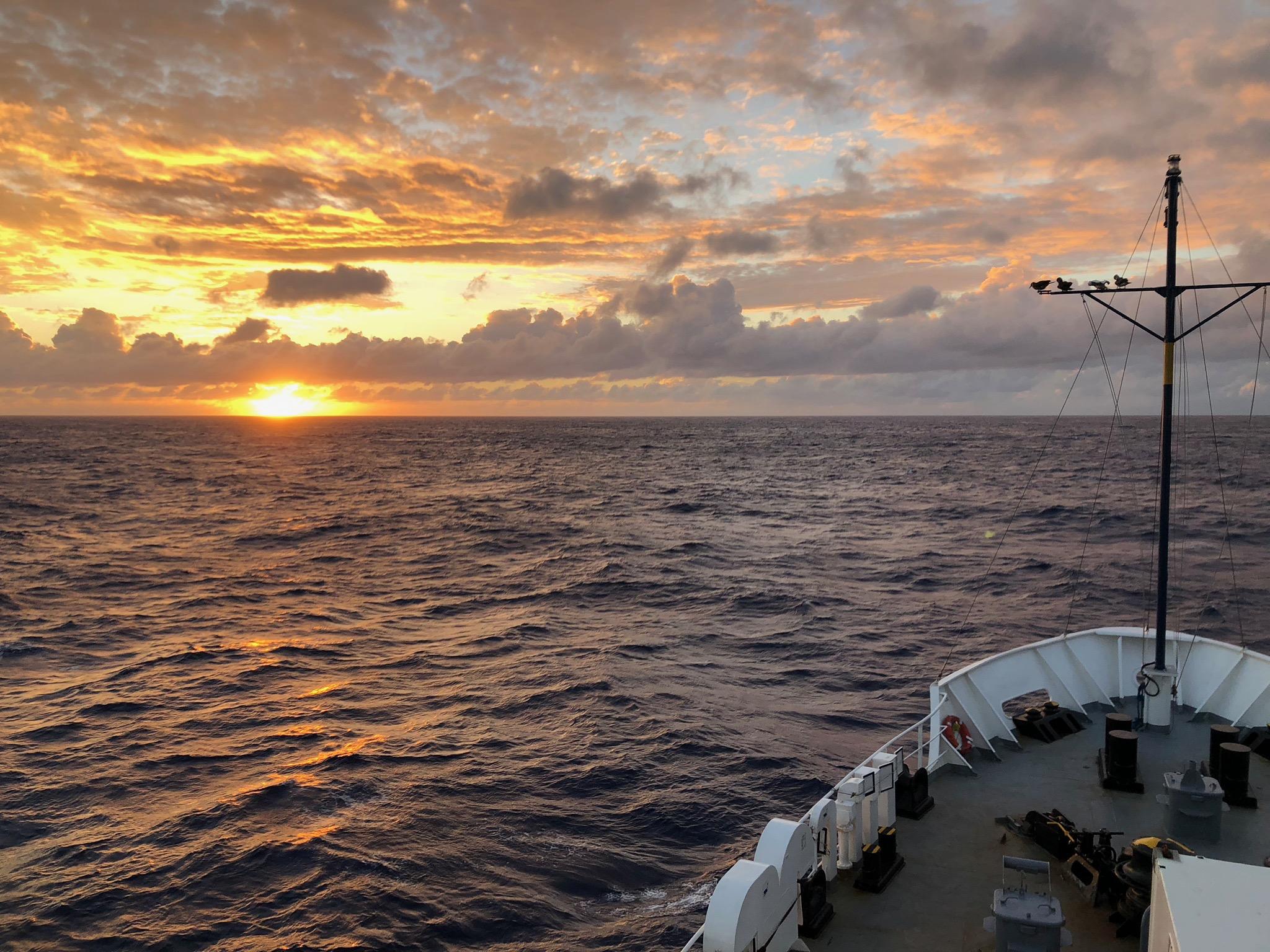 Sunset near to Lo`ihi Seamount, Hawai`i during SUBSEA Cruise A 2018