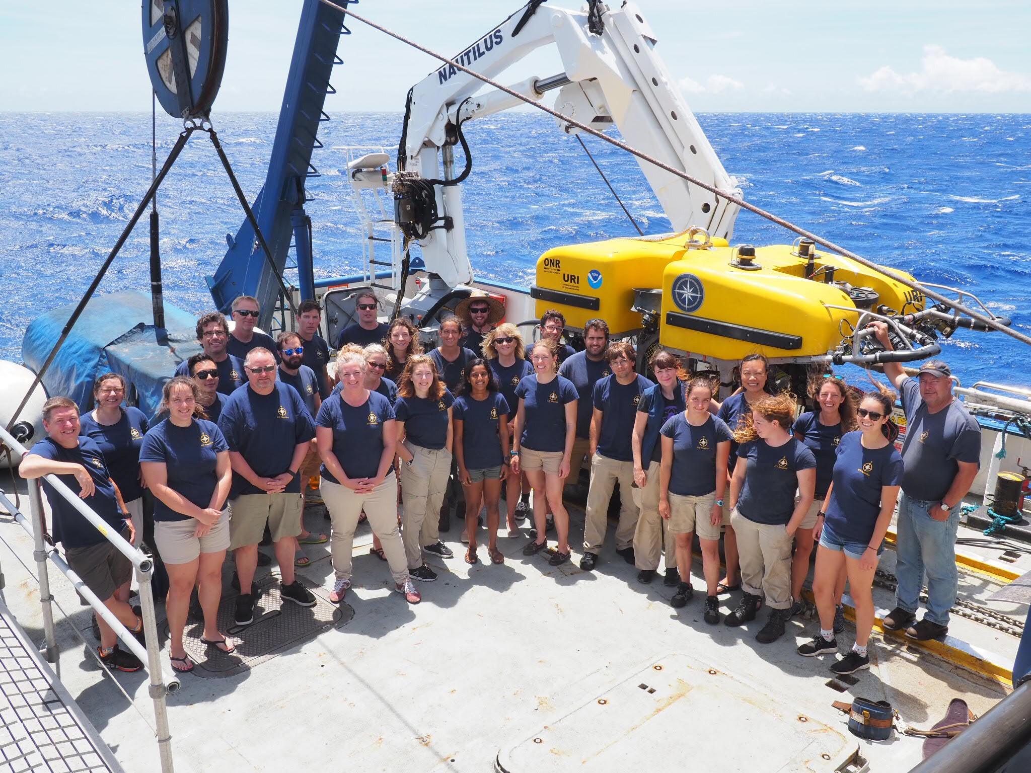 Amazing crew of the E/V Nautilus 2018