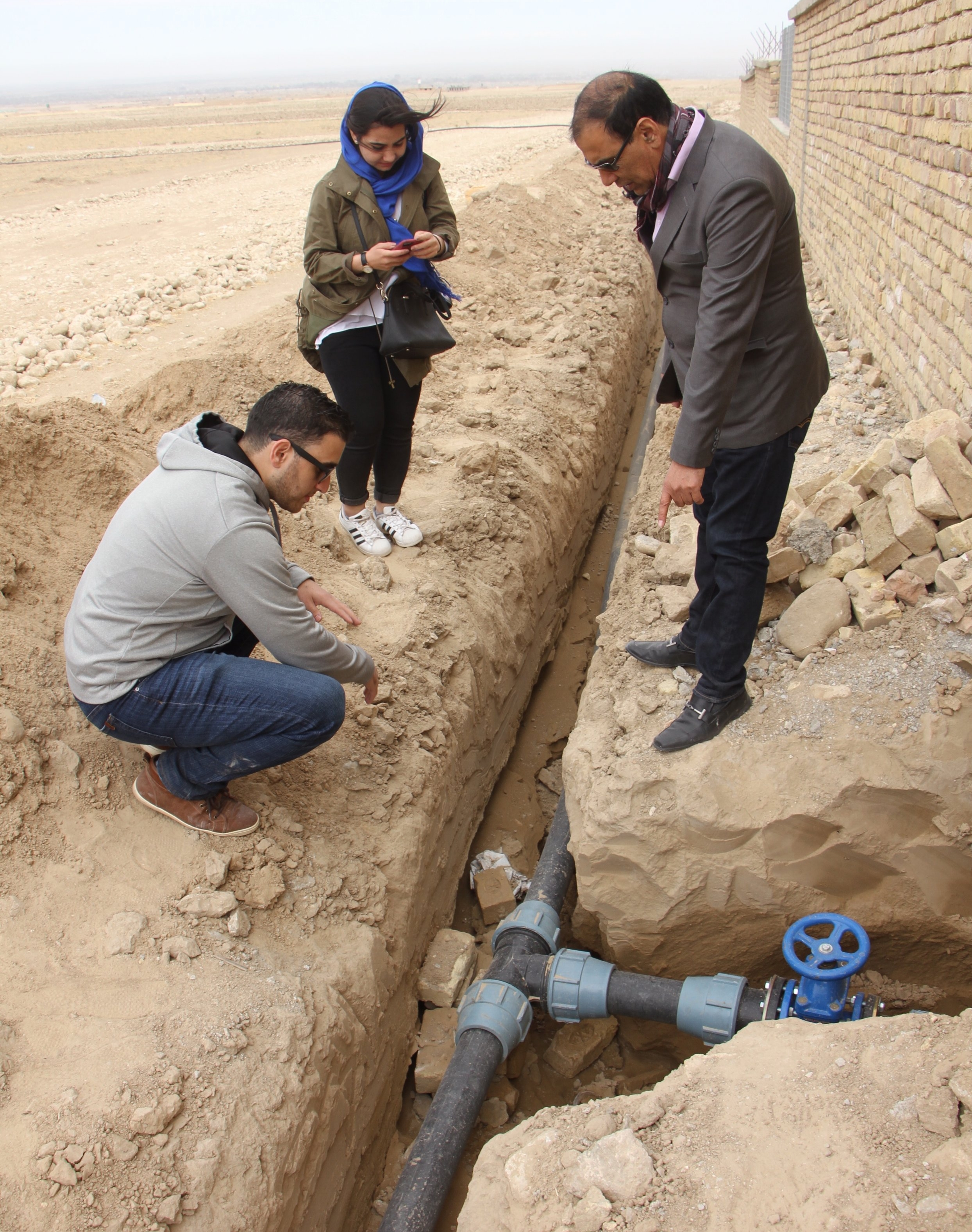 Phase 2 - Underground water-distribution piping system. Sustainable, potable water access to each home.