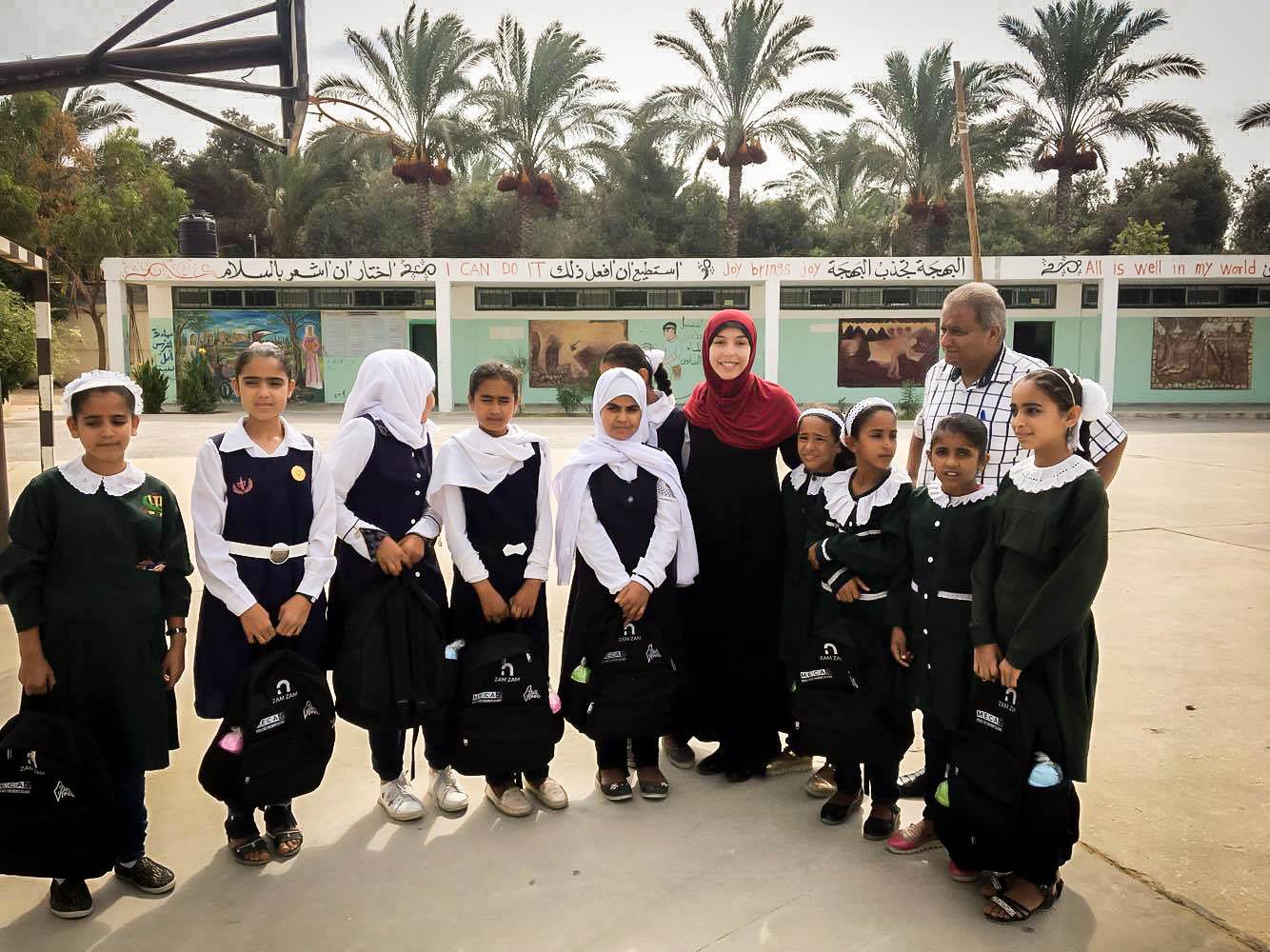 Zam Zam- Gaza Backpack Distribute 2.jpg