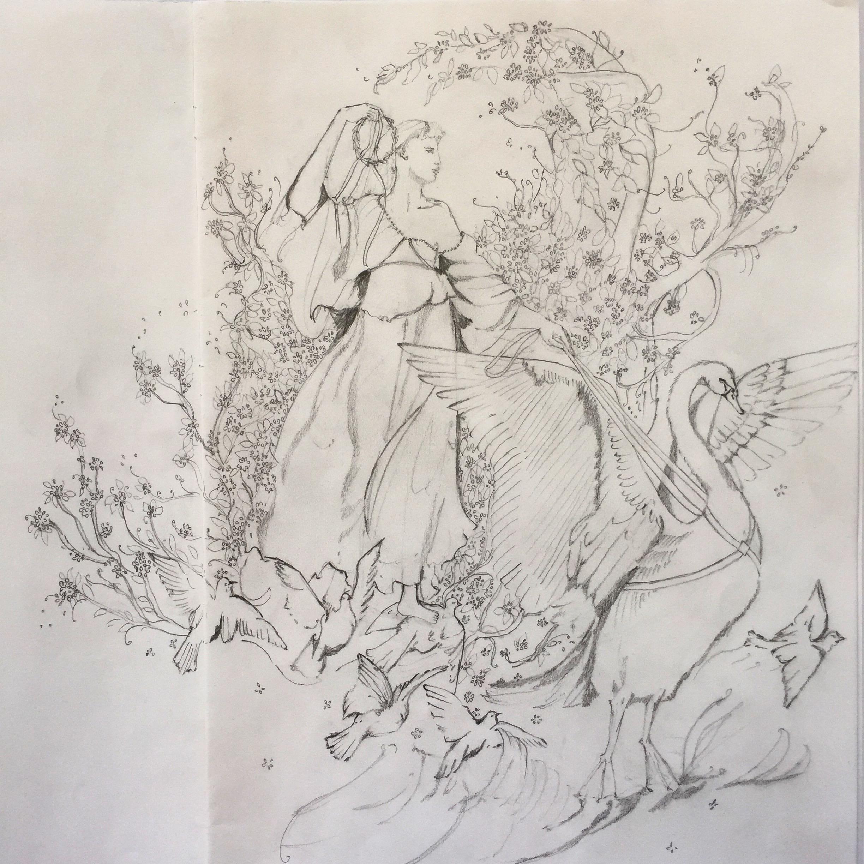 Sketch of Aphrodite