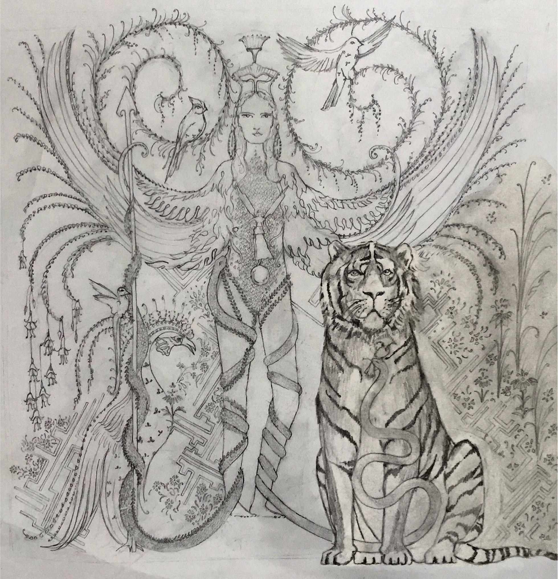 Sketch of Athena