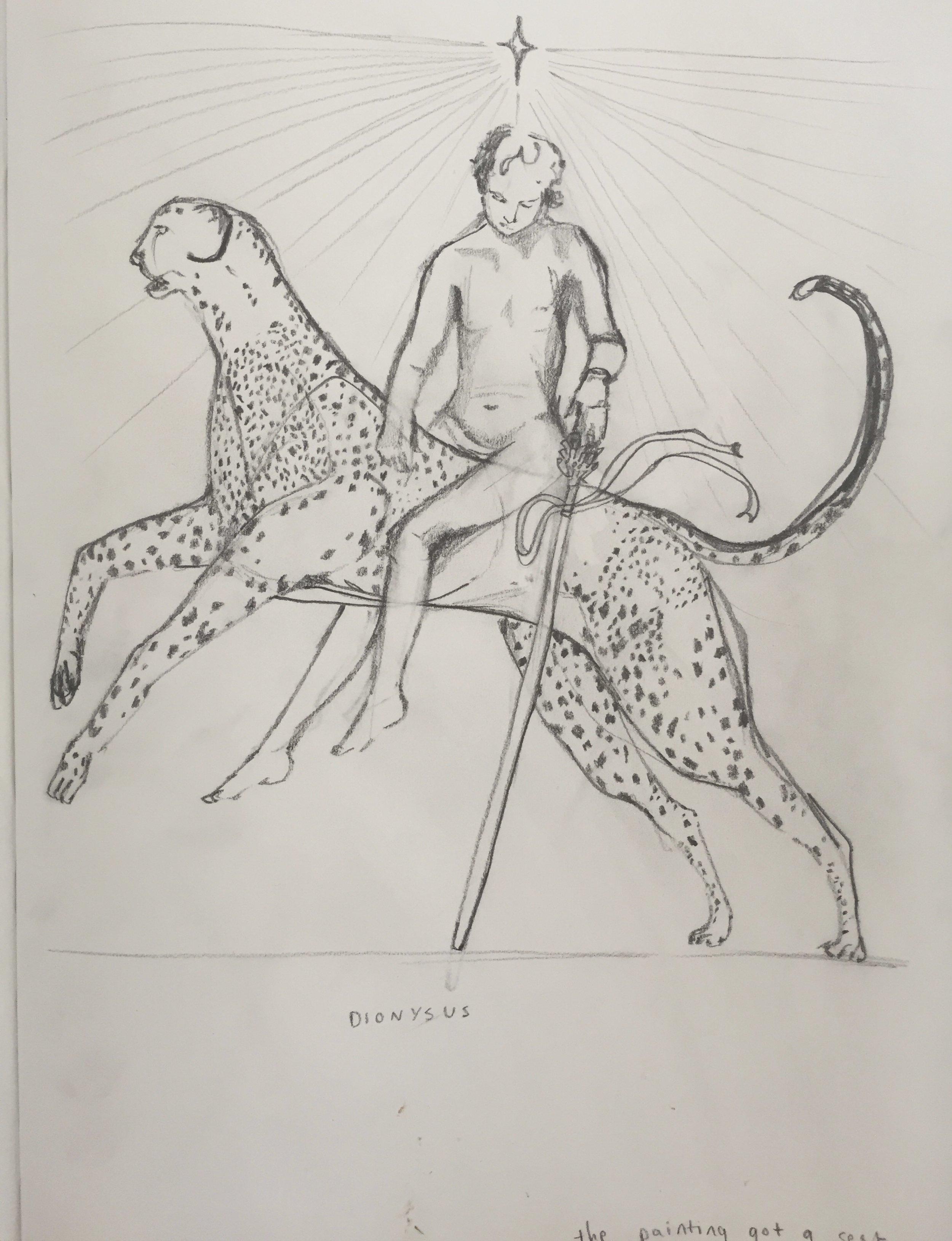 Sketch of Dionysus