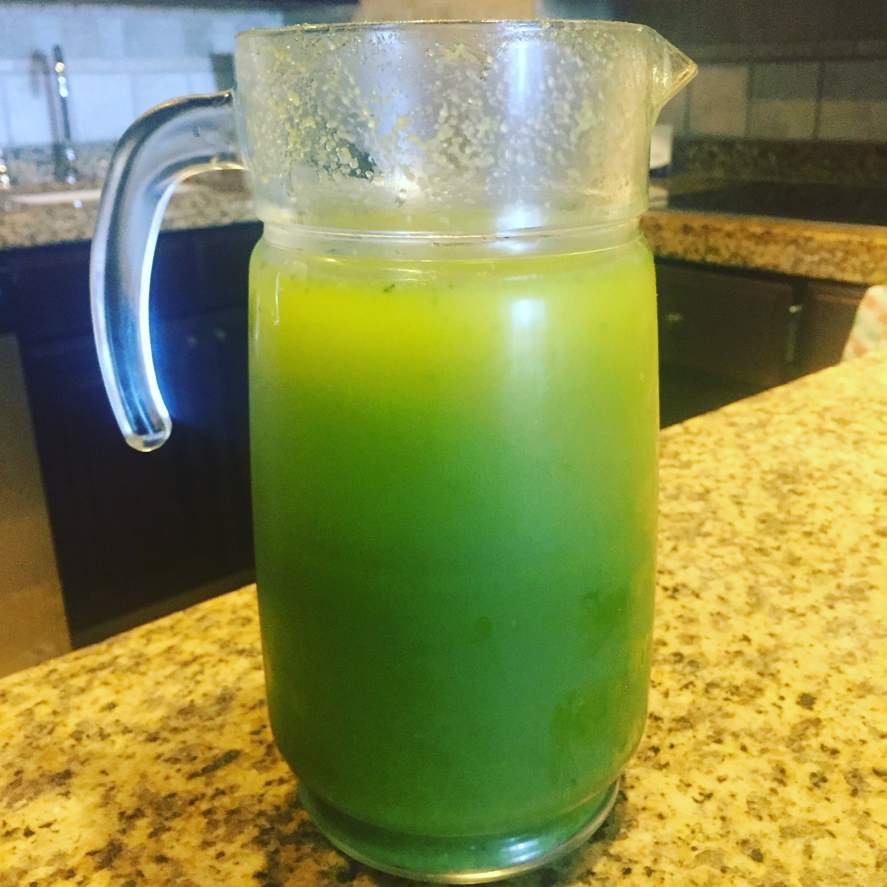 My very own homemade Green Juice Zinger!