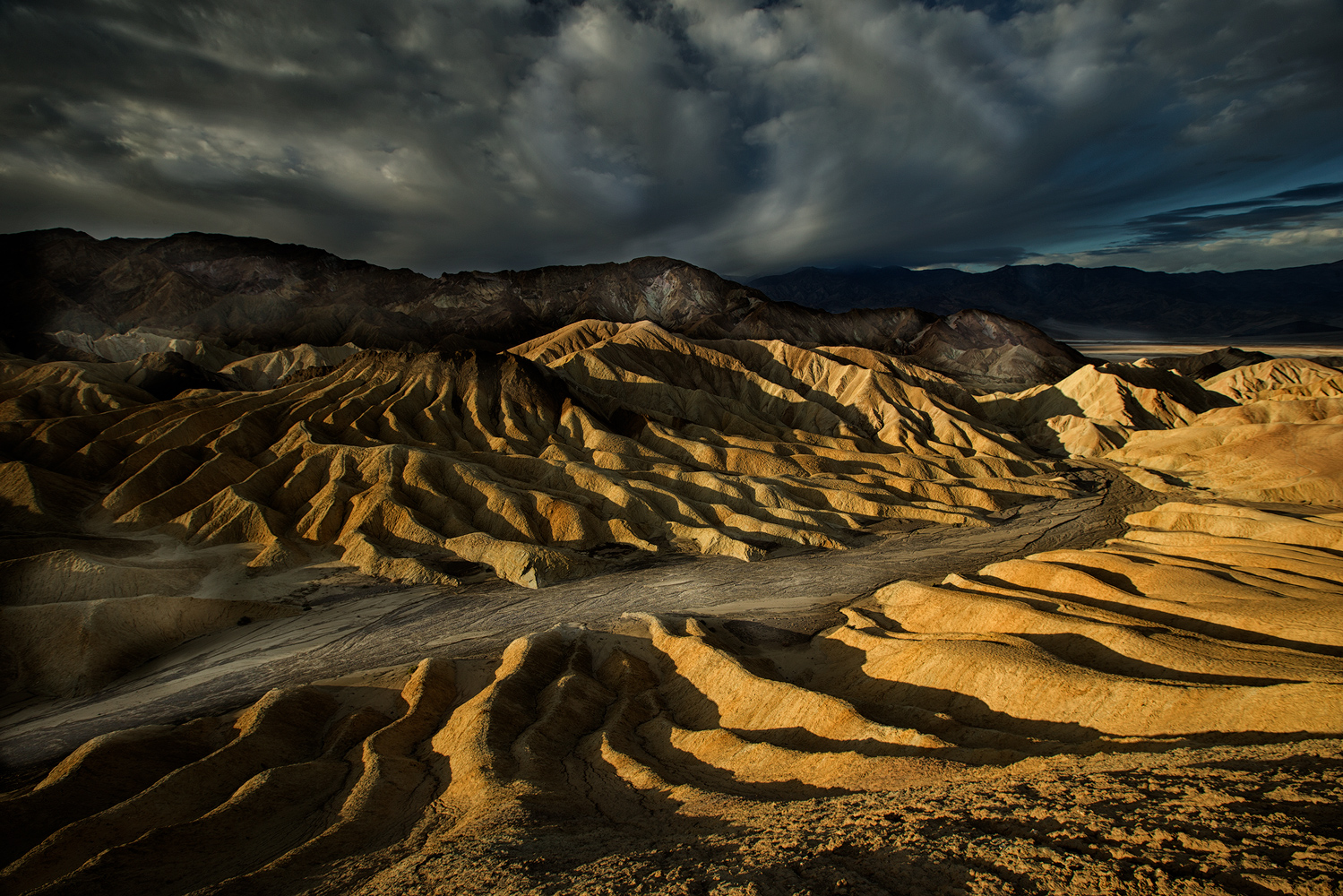 Zabriskie Point Badlands - Early morning at Zabriskie Point in itself is a master class in light, pattern and texture.