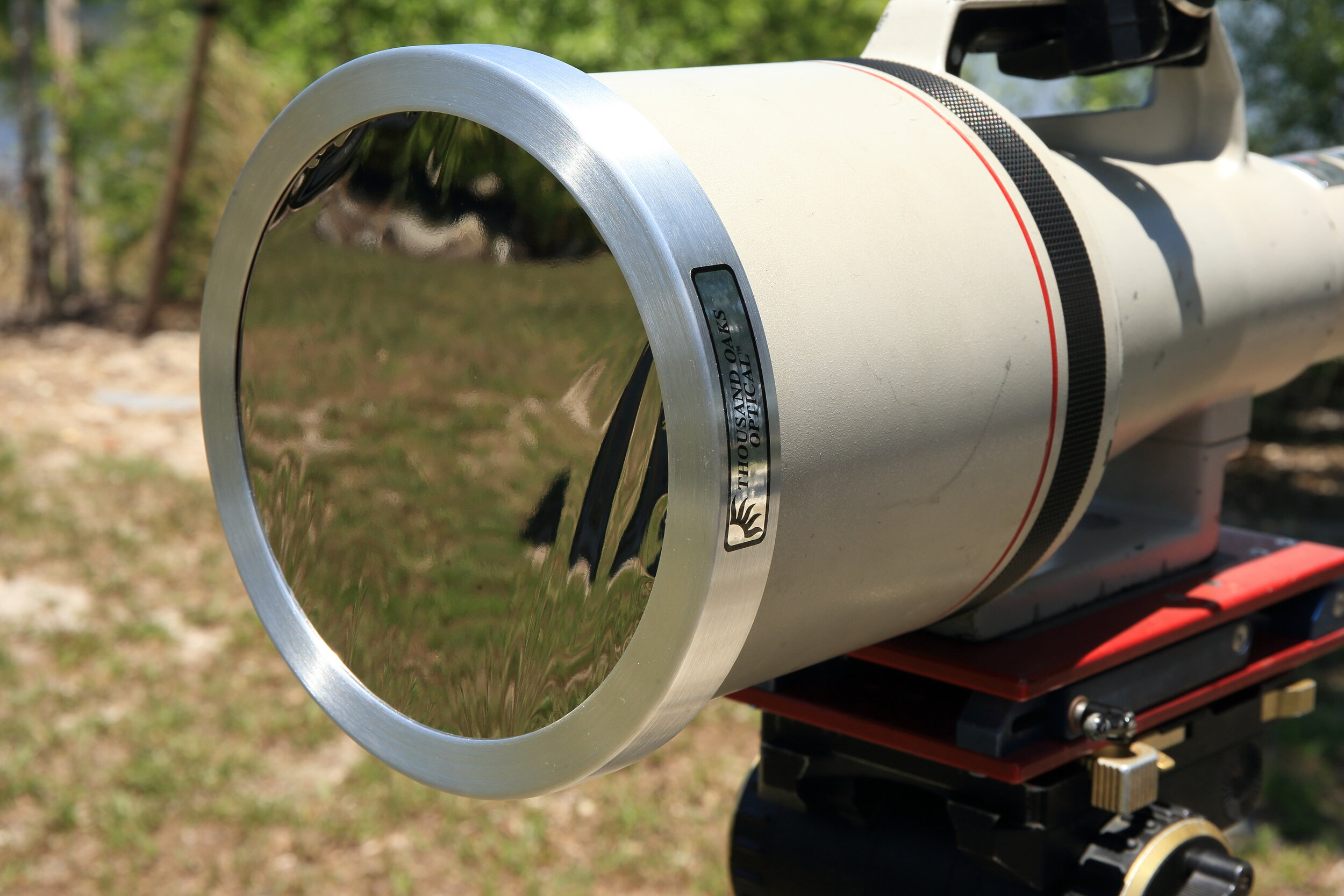 Mylar solar filter used to photograph the image of the ISS in front of the sun as seen above.