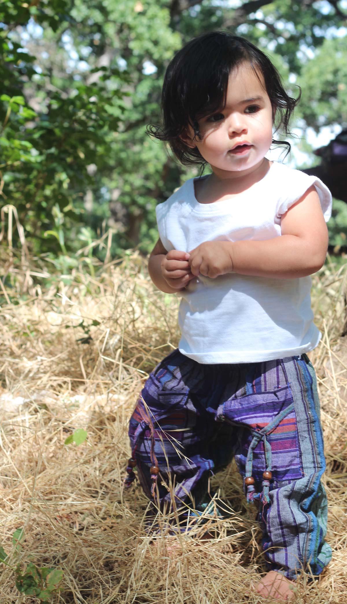 Freedom Pant-Spirit Stripe Purple-Baby with Hands Touching.jpg