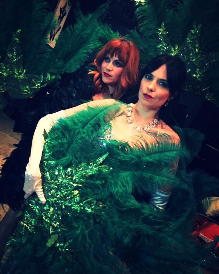 Nikki and Amber Burlesque Fans