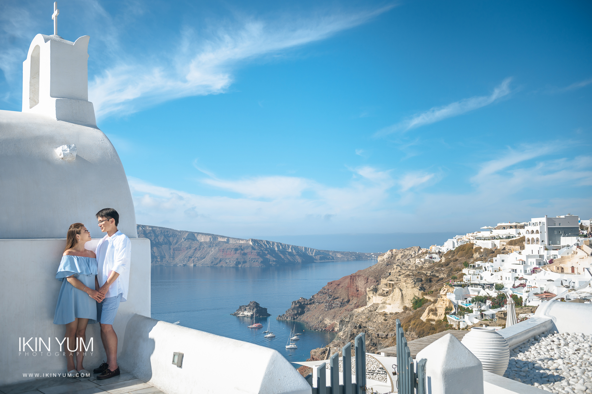 Santorini Pre-Wedding Shoot - London Pre-Wedding Photographer -  英国伦敦婚纱摄影  -  海外婚纱摄影