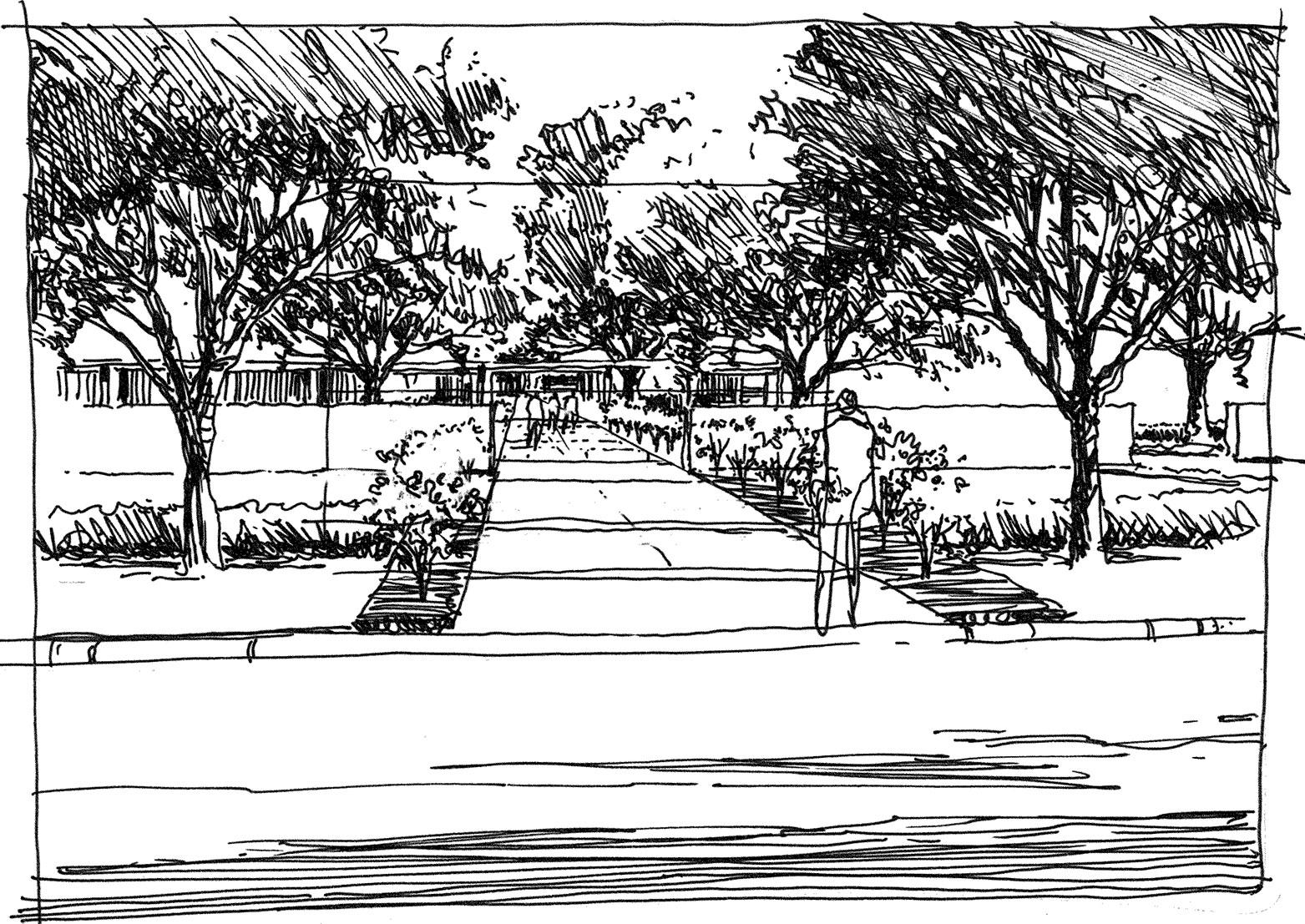 Concept Sketch (B/W)