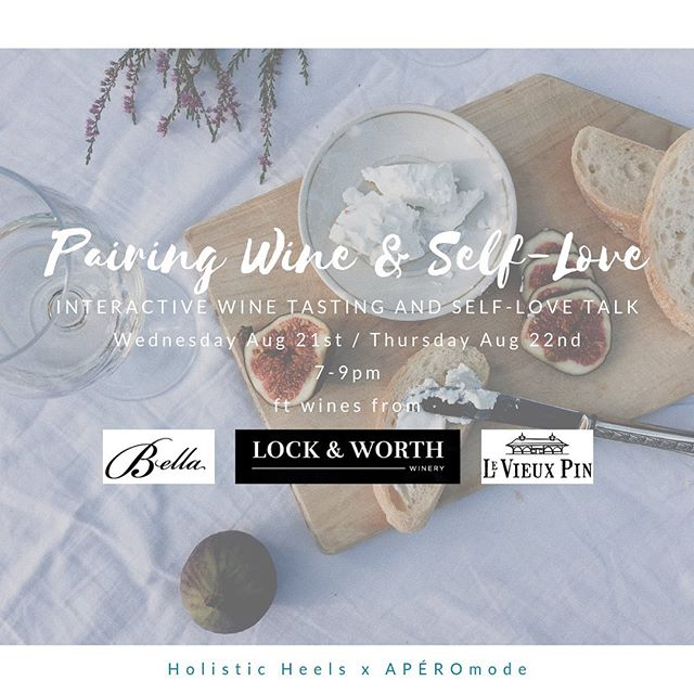 🍷 EVENT ANNOUNCEMENT🍷 Some say wine and holistic health don't go hand in hand but @mauderb and I think otherwise. We're partnering up to share our two passions: wine and self-love. We'll be breaking the stigma, relaxing the rigid rules and regulations of conventional health, and showing you that the right wines can in fact be a part of a holistic lifestyle when mindfully consumed. And consume we shall! — thanks to the lovely local winemakers from @bellahomestead @lockandworth @levieuxpin. Tickets in my profile + Eventbrite under Pairing Wine & Self-Love: https://www.eventbrite.com/e/pairing-wine-self-love-tickets-65206057072 ⠀⠀⠀⠀⠀⠀⠀⠀⠀ Will you be sipping some wine with us? // #holisticheels #yvrevents #bcwine #healthybalance #mindfulmovement #mindfuleatingtips #yvrfoodies #yvrdrinks #selflovecoach #integrativehealthcoach
