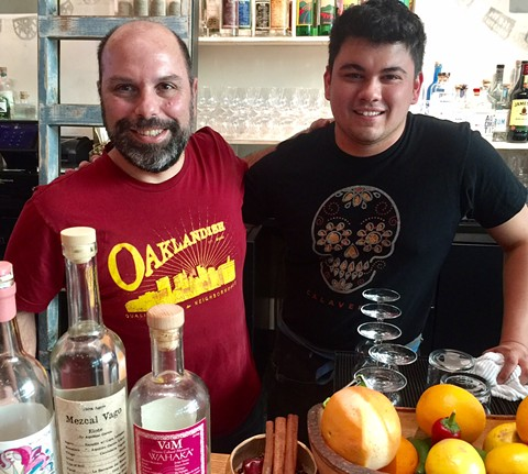 Christ Pastena (left) and a staffer at Calavera in Uptown Oakland