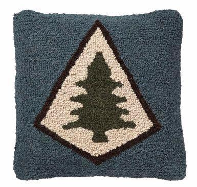 Comfy  Pine Lodge Hooked Pillow .$79.50