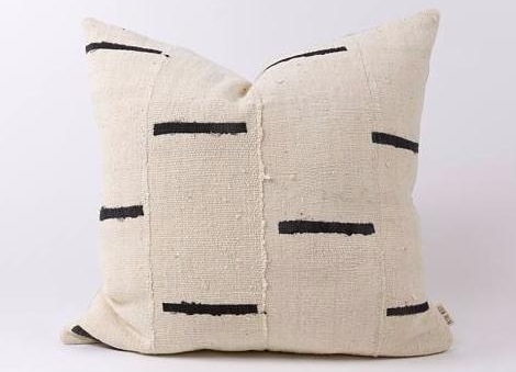 Authentic  African Mud Cloth Pillow . $100