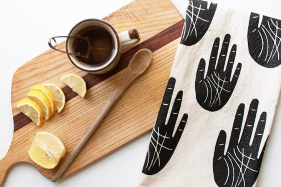 WISE PALM TEA TOWEL - Marion + Rose Fine Goods