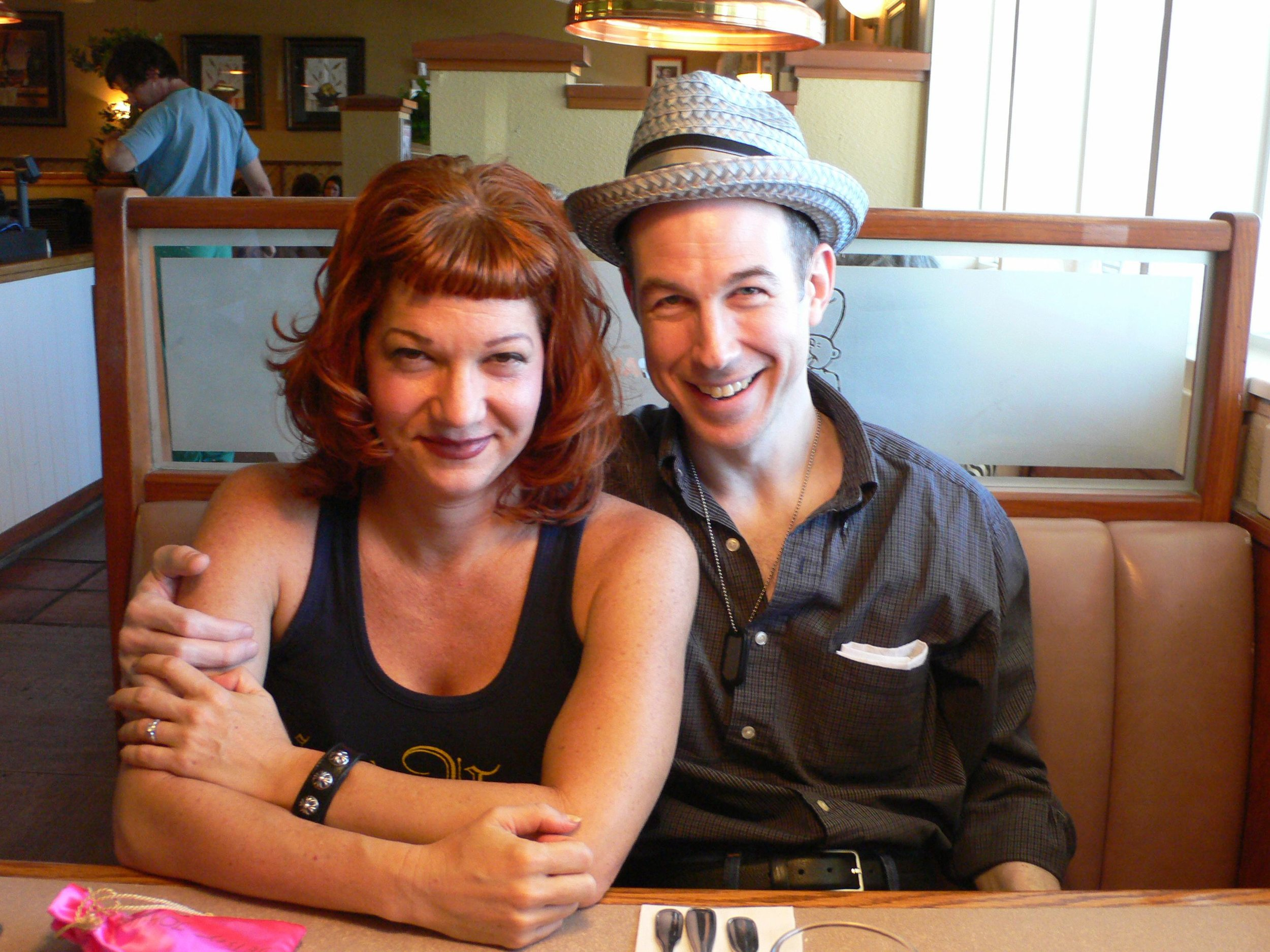 Fabulous Dixie Laite and her adorable husband, Jeff who found love in their forties. Dixie likes to give Jeff trophies for being an awesome husband.