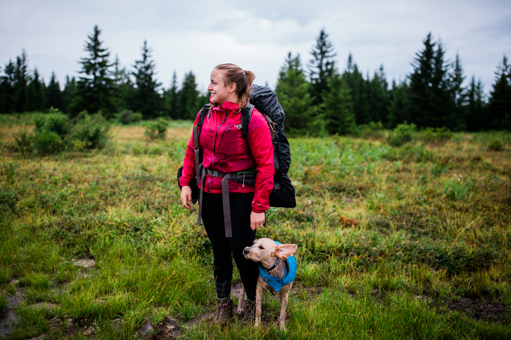 Women who hike, West Virginia adventure photographer, Dolly Sods Hiking, Hiking with dogs