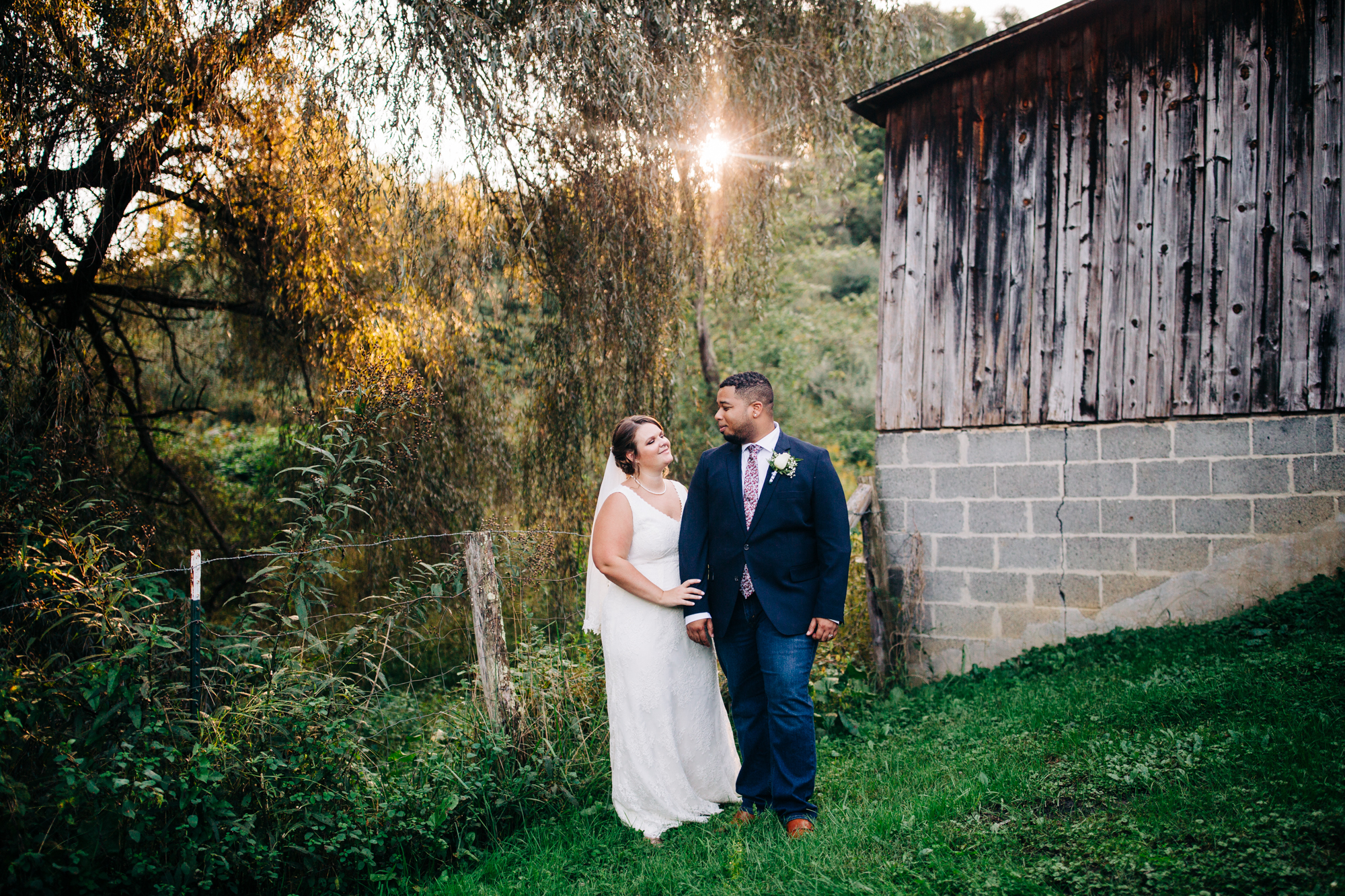 Serra and Chris rented a cabin in Beckley, West Virginia for their September wedding.