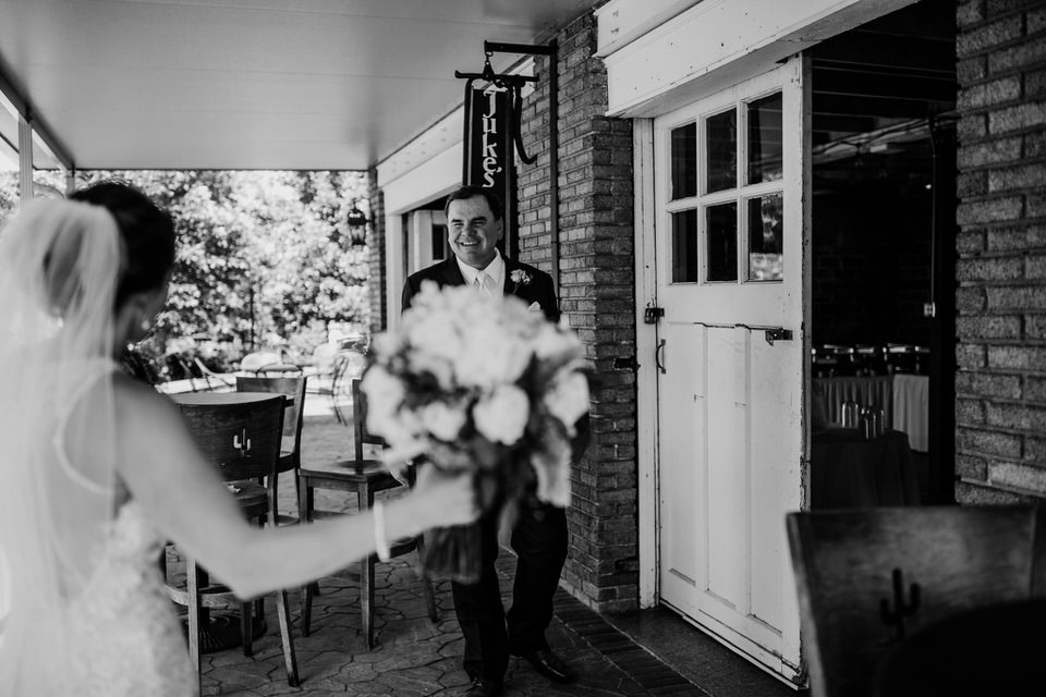 First Look at a West Virginia wedding