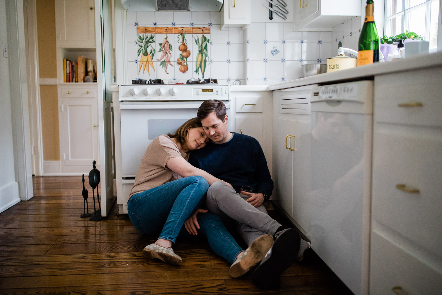 An in-home engagement session in Charleston, WV. In-home sessions are perfect for engagement, anniversary, new babies or just because.