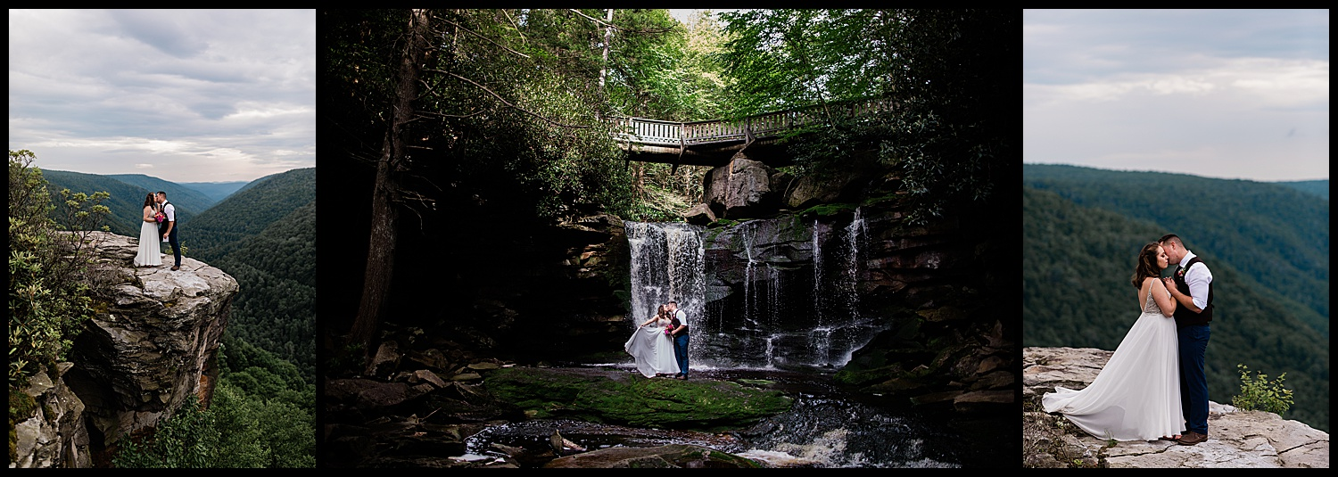 Adventurous West Virginia elopement at Blackwater State Park near Washington DC