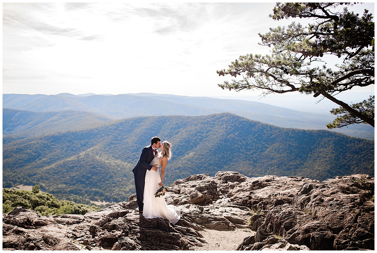 Christine and Marc elopement at Raven's Rock off of the Blue Ridge Parkway near Charlottesville, Virginia.