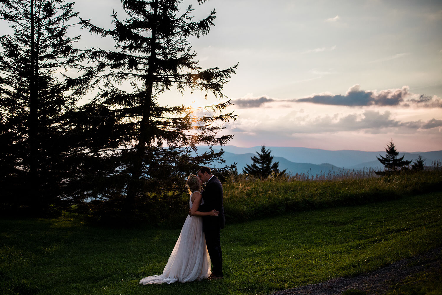 A night portrait after a recent wedding at Snowshoe Resort.