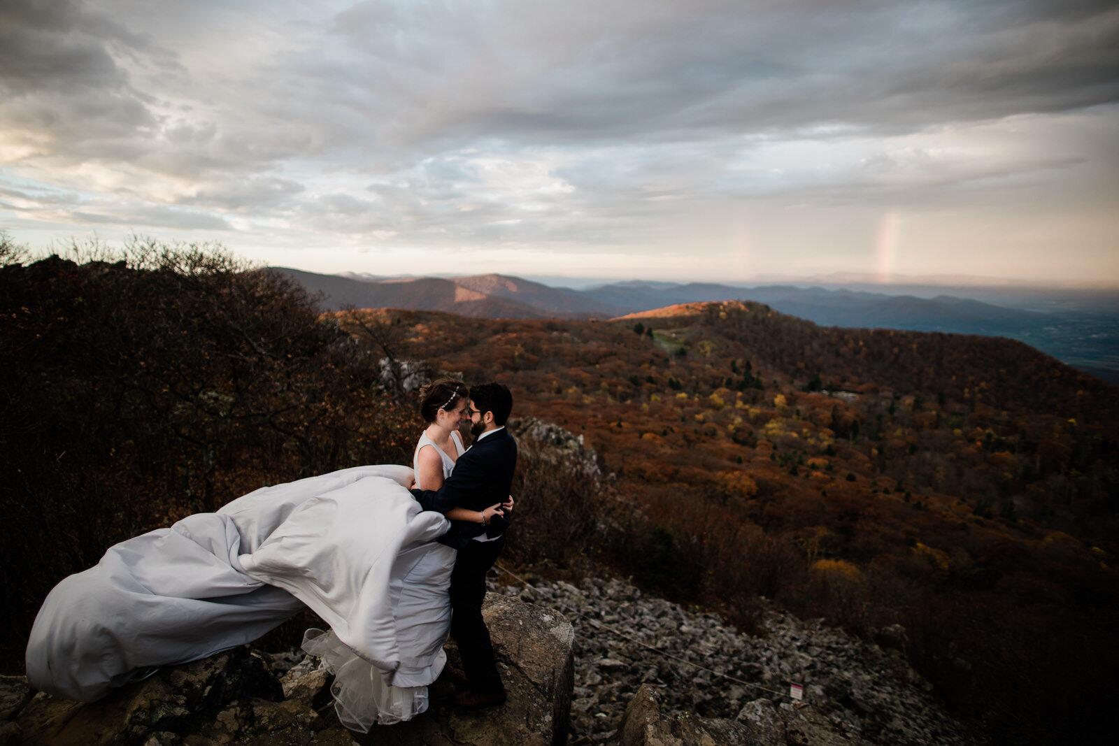 Shenandoah National Park sunrise elopement