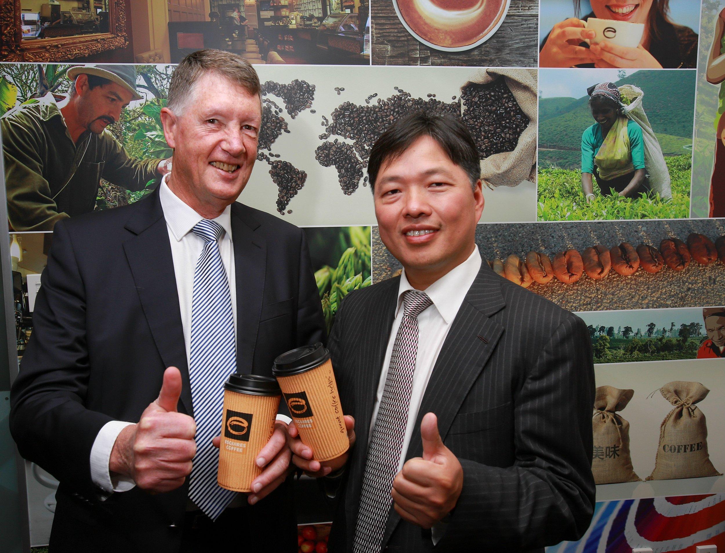 BBG Chairman Wang Tian (right) and Cooks Global Foods Executive Chairman Keith Jackson.