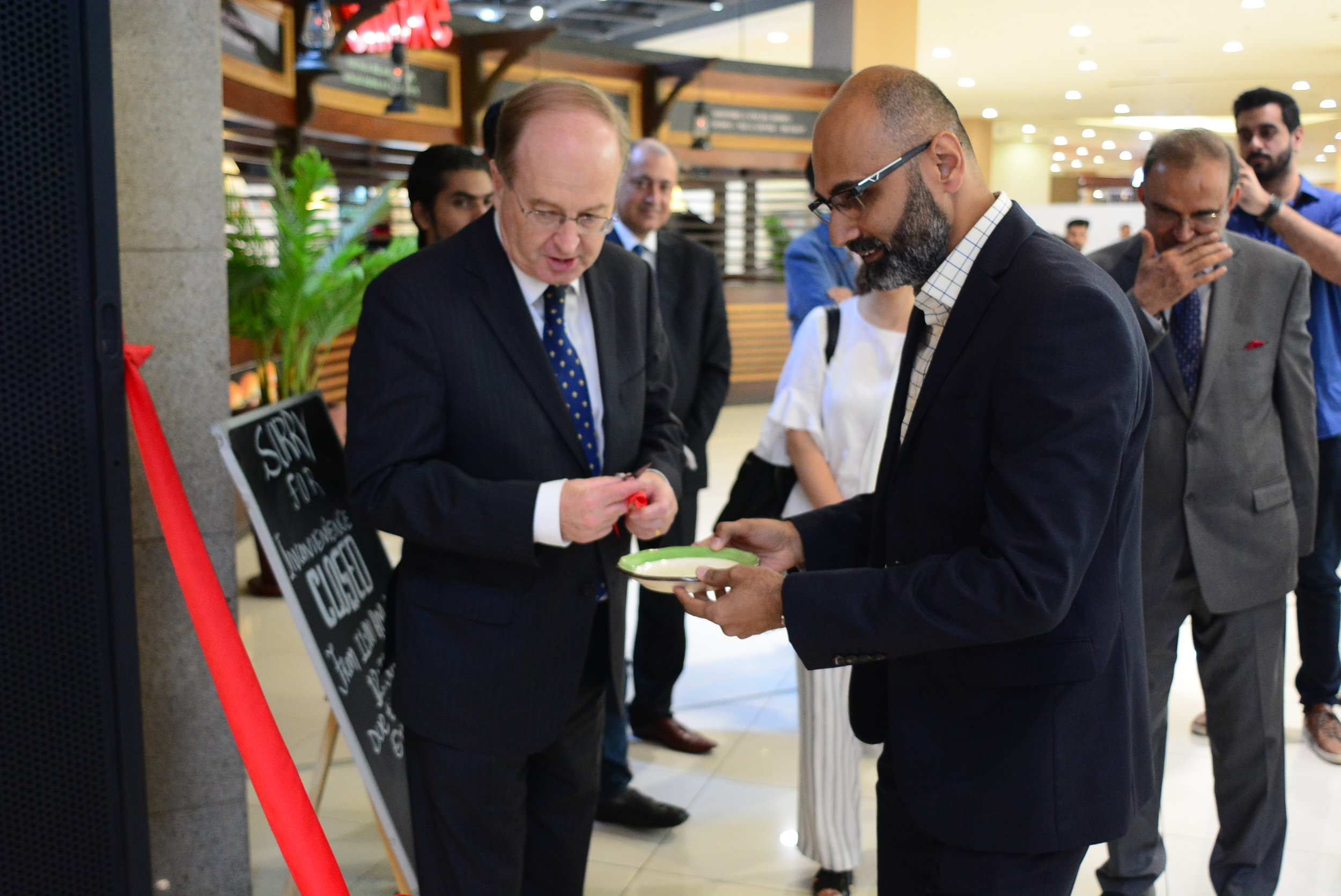 New Zealand High Commissioner H.E. Hamish MacMaster (left) with Esquires Pakistan CEO Jehanzeb Paracha.