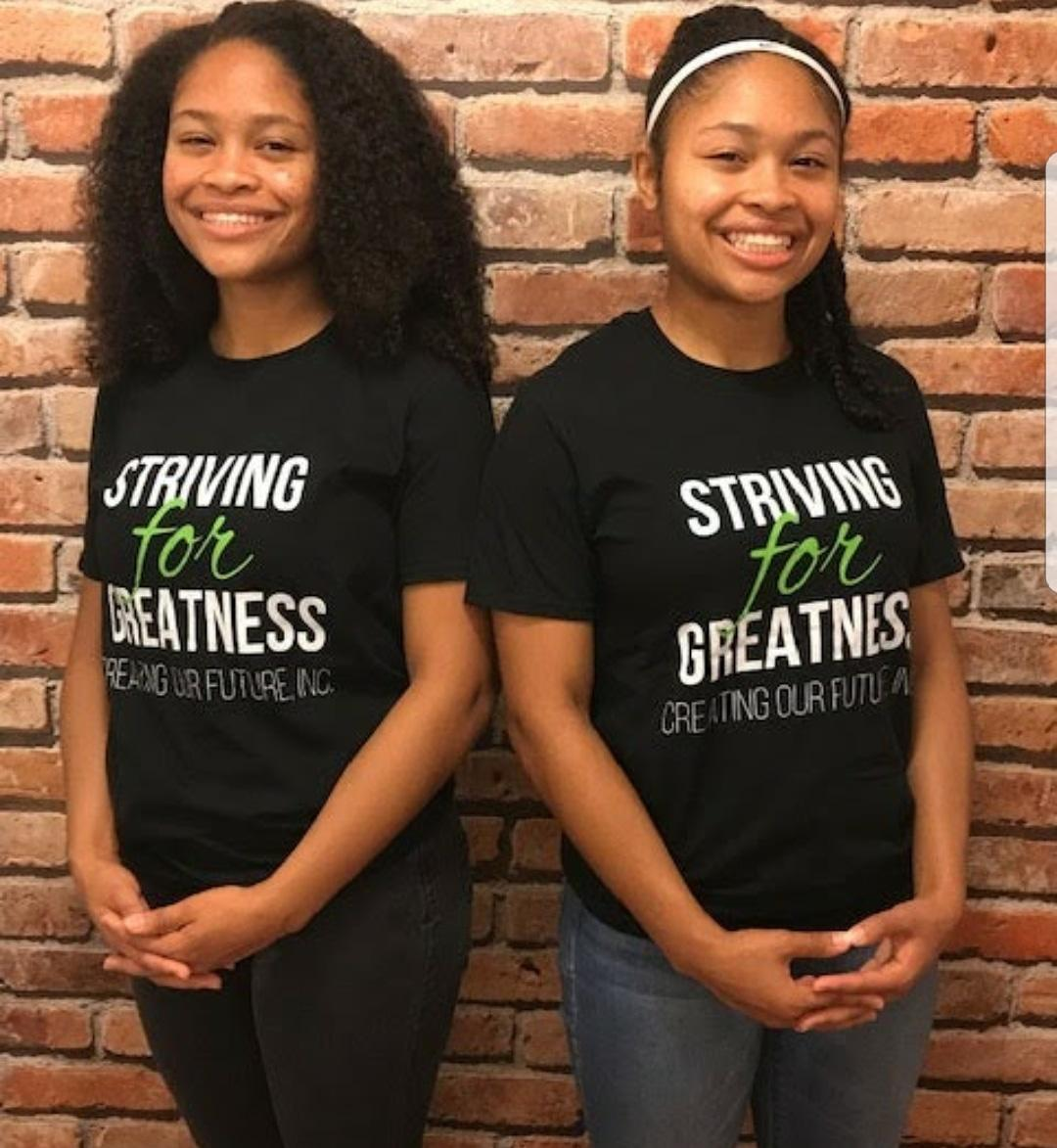 Mentorship is very important to our organization and we cant do it without your support. Help us reach more youth and provide the services needed to help our youth Strive for Greatness. Purchase shirt today for a donation of $20.00