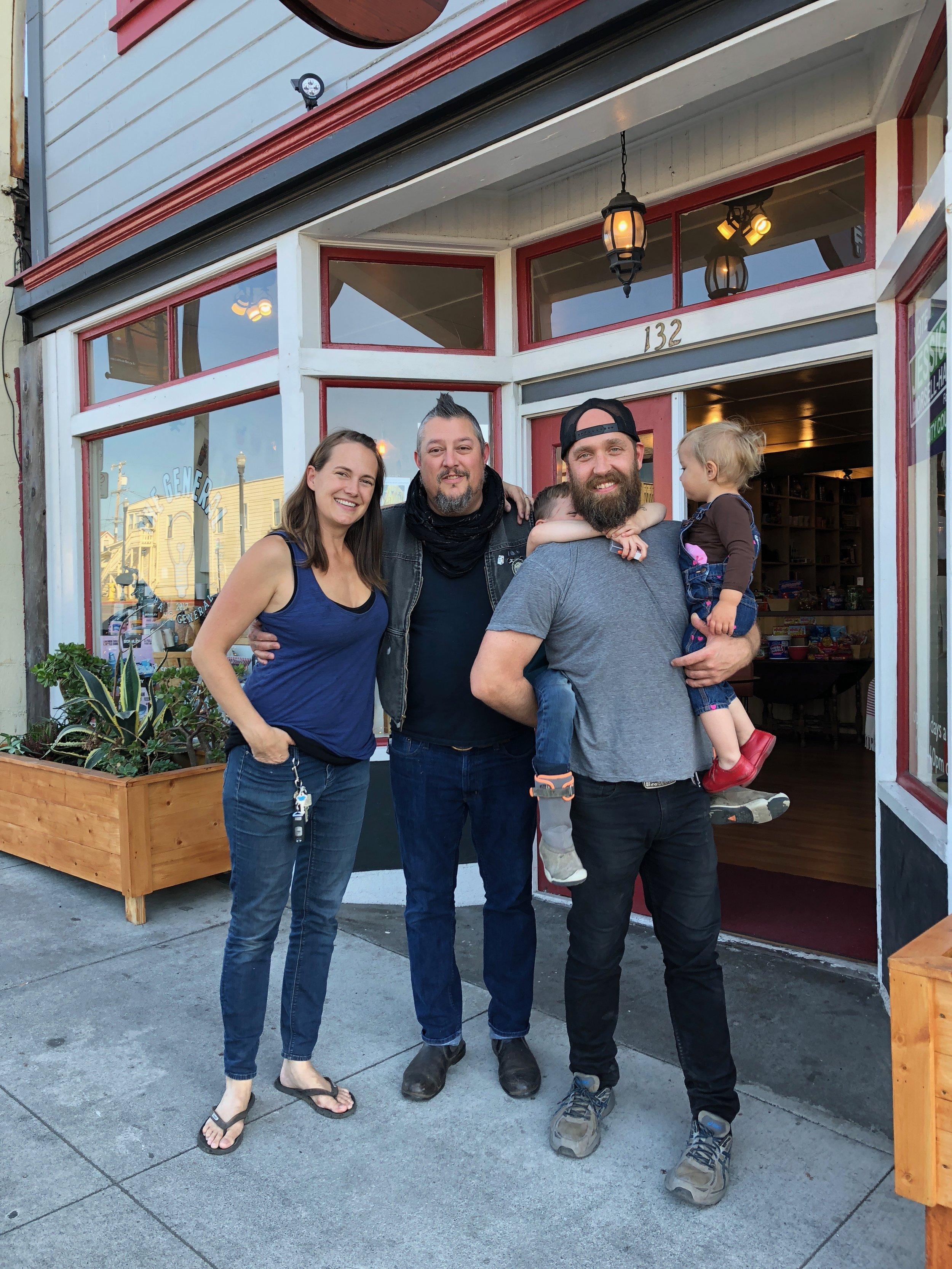 Proprietors Jessica, Mikael & Matty with the wild imps