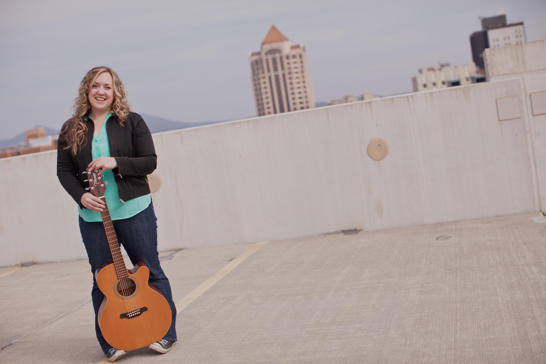 Amy Cox Photo Shoot Guitar Parking Garage Roanoke.jpg