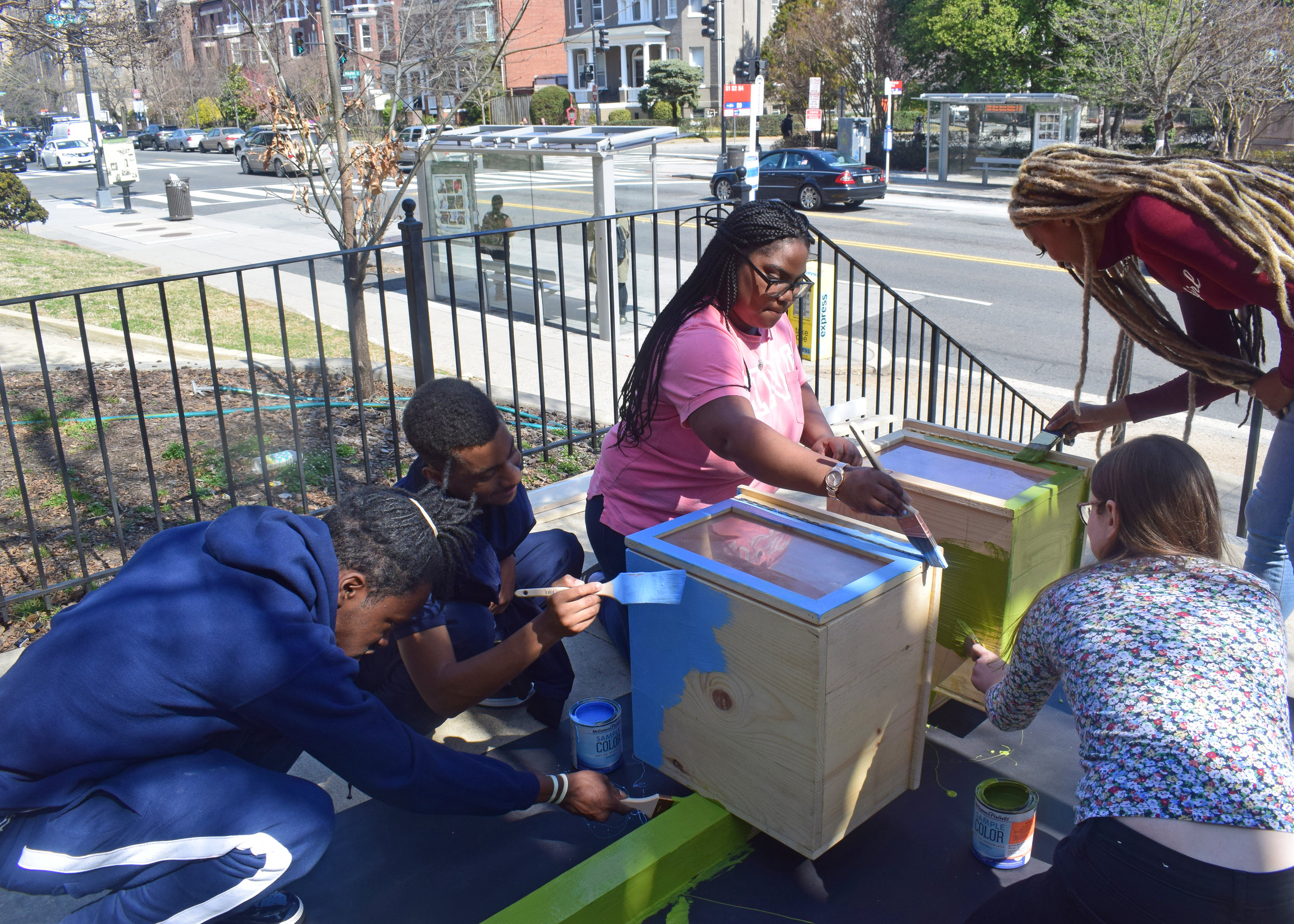 The Little Library Project - YBPCS celebrates AmeriCorps Week with promoting literacy throughout DC