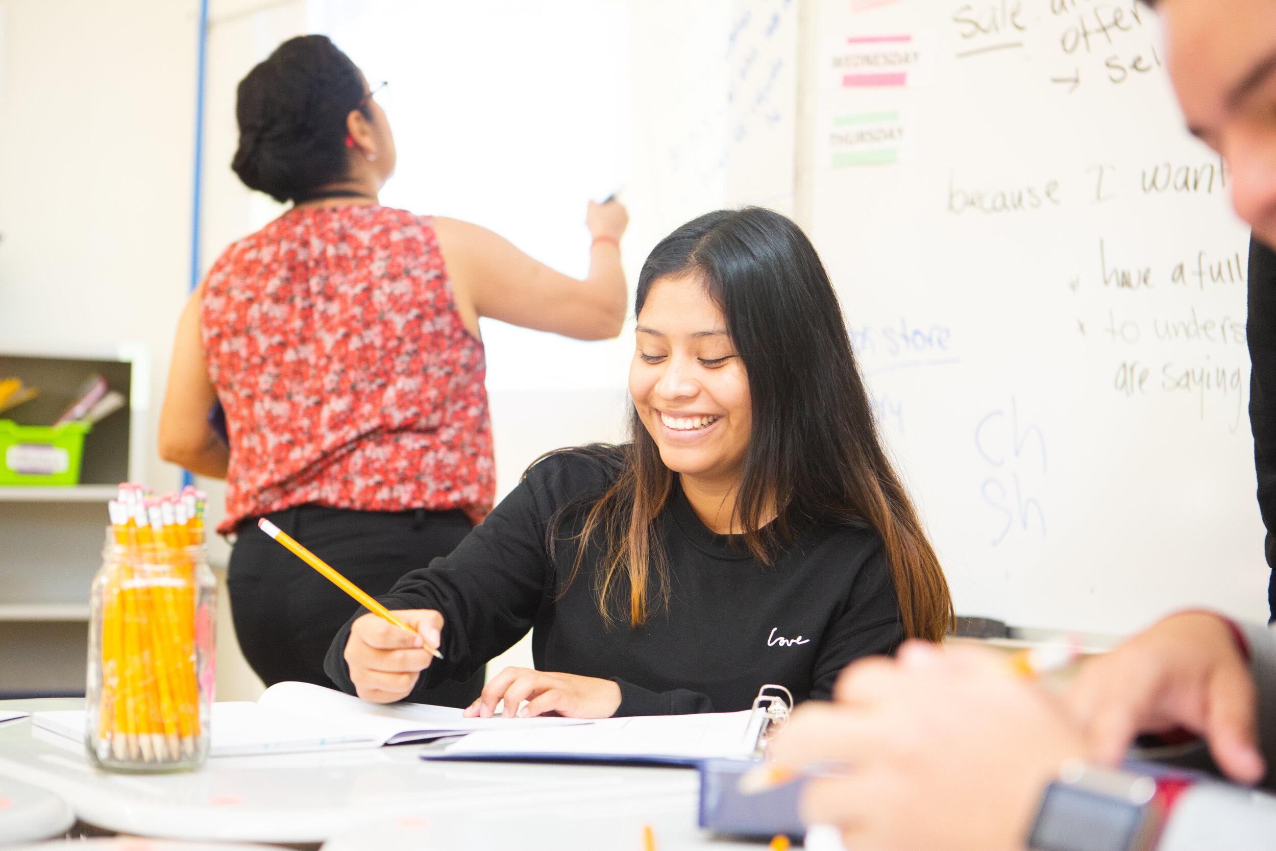 15:1 - Teacher : student ratio