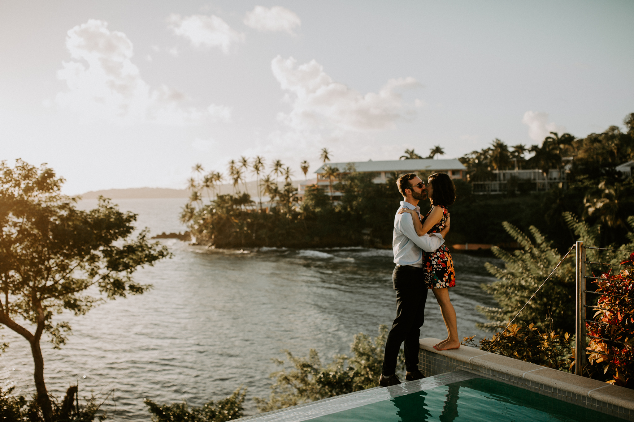 Beach Engagement at sunset in Tobago