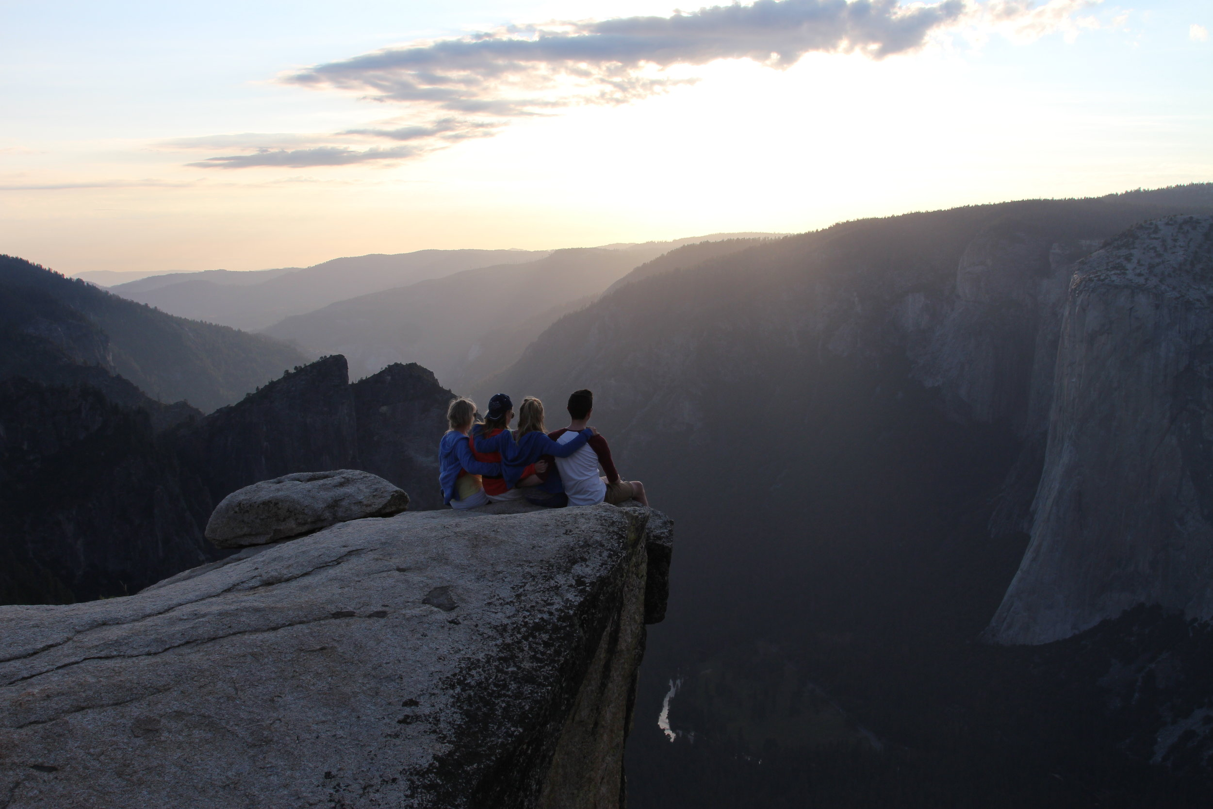 The Kelley Family, Taft Point, Yosemite