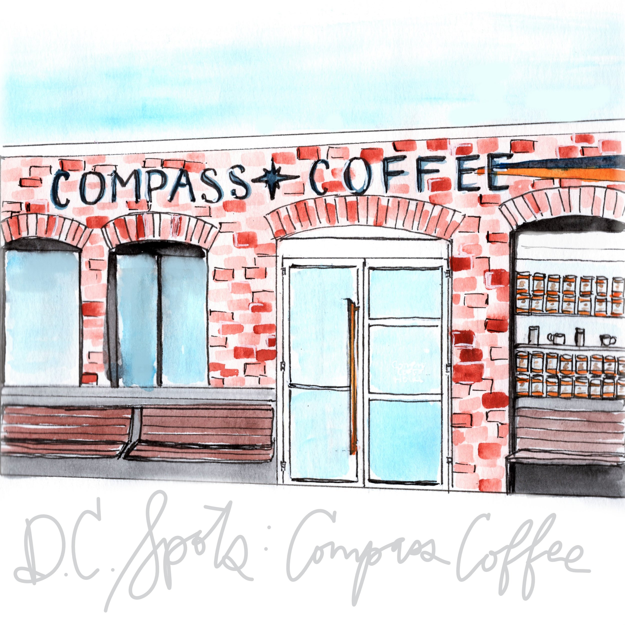 Desert 2 District Design II Compass Coffee - 7th Street