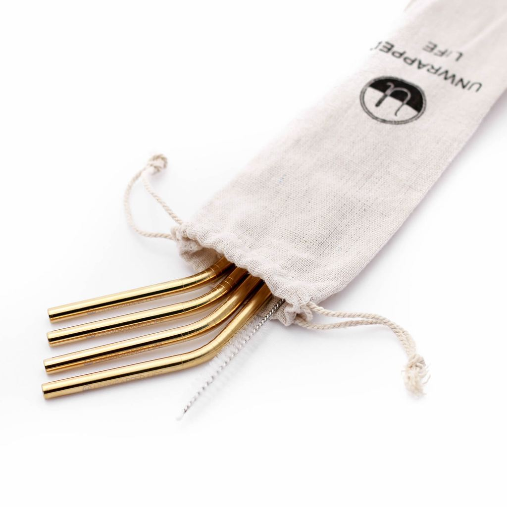 1.  Reusable Stainless Steel Straws - Unwrapped Life